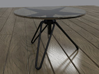 max glass metal coffee table