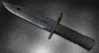 m9 bayonet knife 3d obj