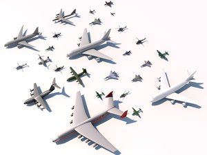 aircrafts tupolev mig 3d 3ds