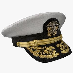 3d max admiral hat