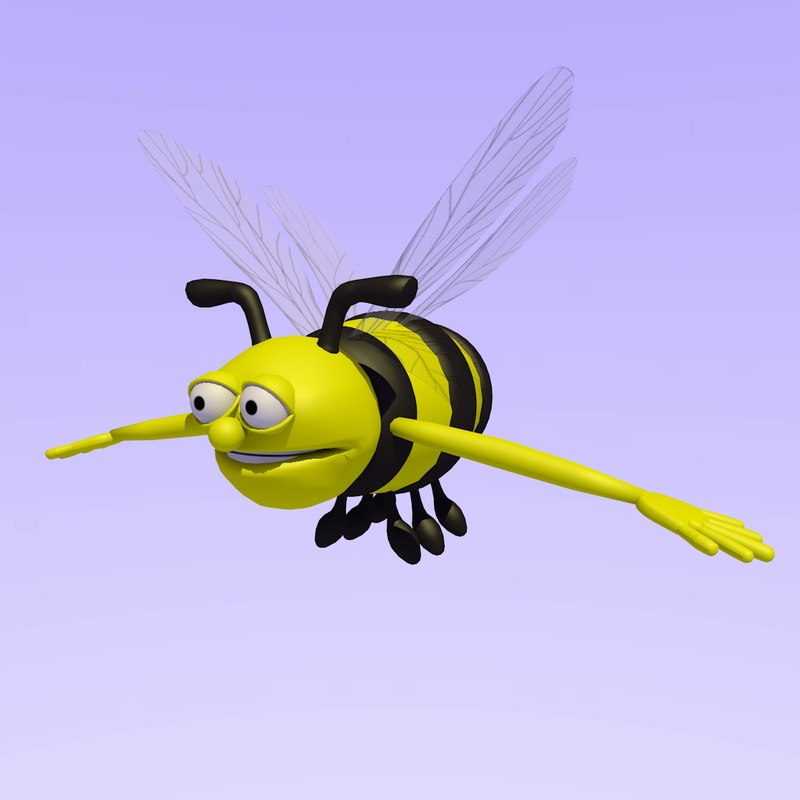 c4d bumble bee rigged