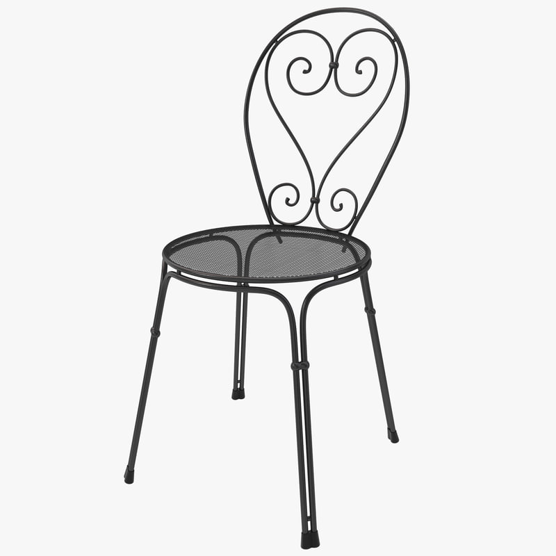 bistro chair design 3d 3ds