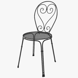 bistro chair design 3d 3ds