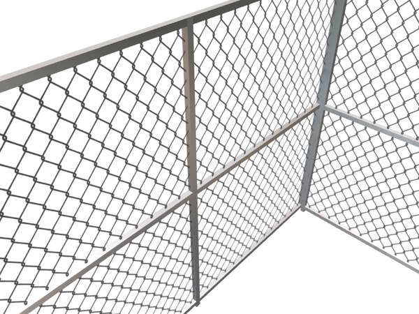 3d chain link fence model