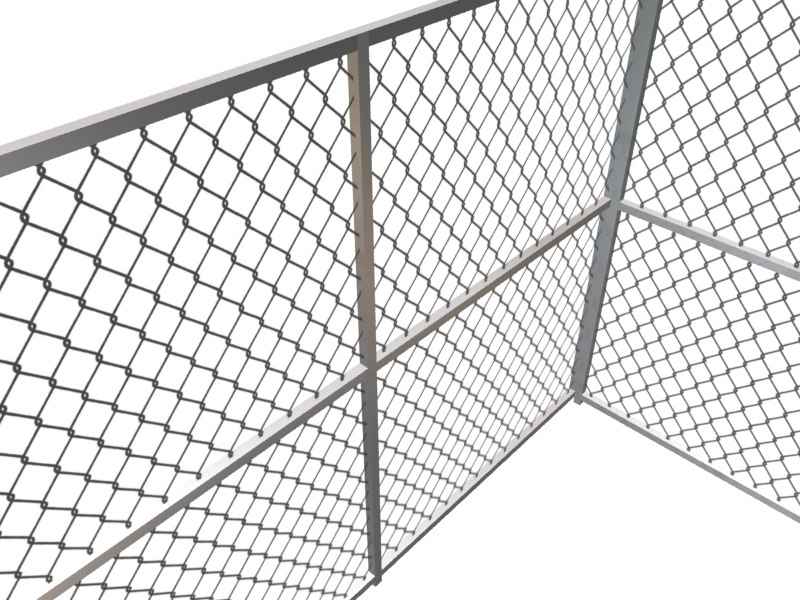 3d chain link fence model for 3d fence