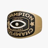 3d champion ring model