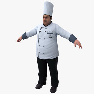 chef rigged 3d max