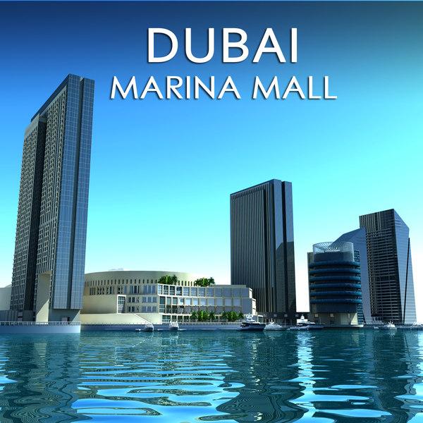dubai marina mall 3d model