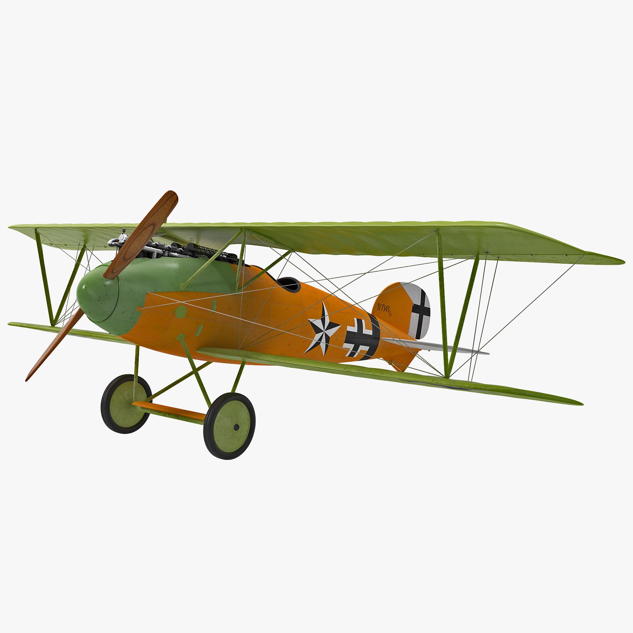 fighter aircraft albatros dv 3d 3ds