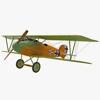 fighter aircraft albatros dv 3d 3ds