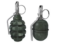 3ds max grenades f-1 rgd-5