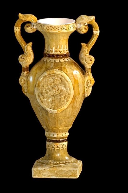 3d model vase amber old