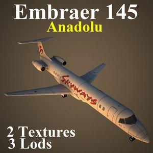 3d model embraer skx