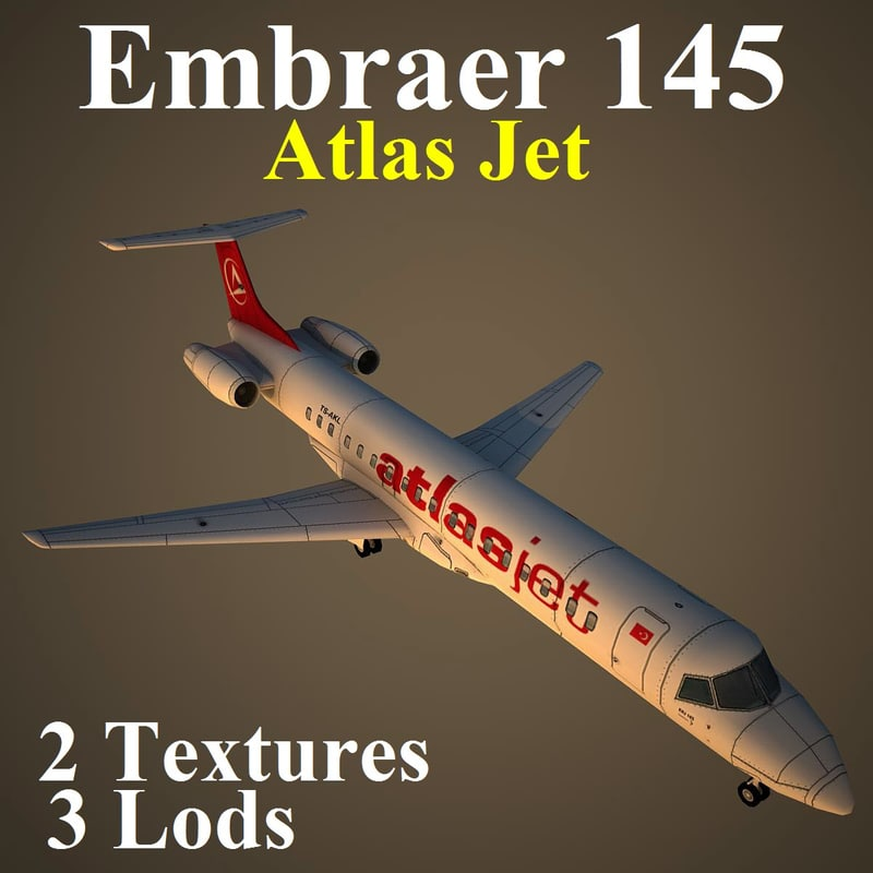 3d embraer jet bmm model