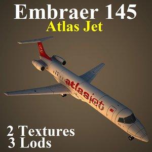 3d embraer jet bmm model