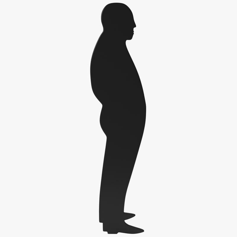 3d man silhouette 4