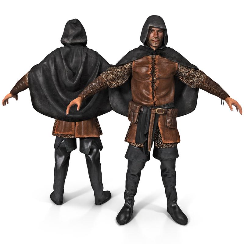 3d model medieval thief