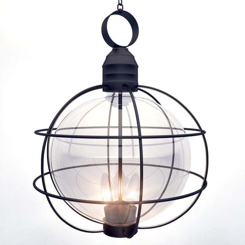 metal framed lamp 3d 3ds