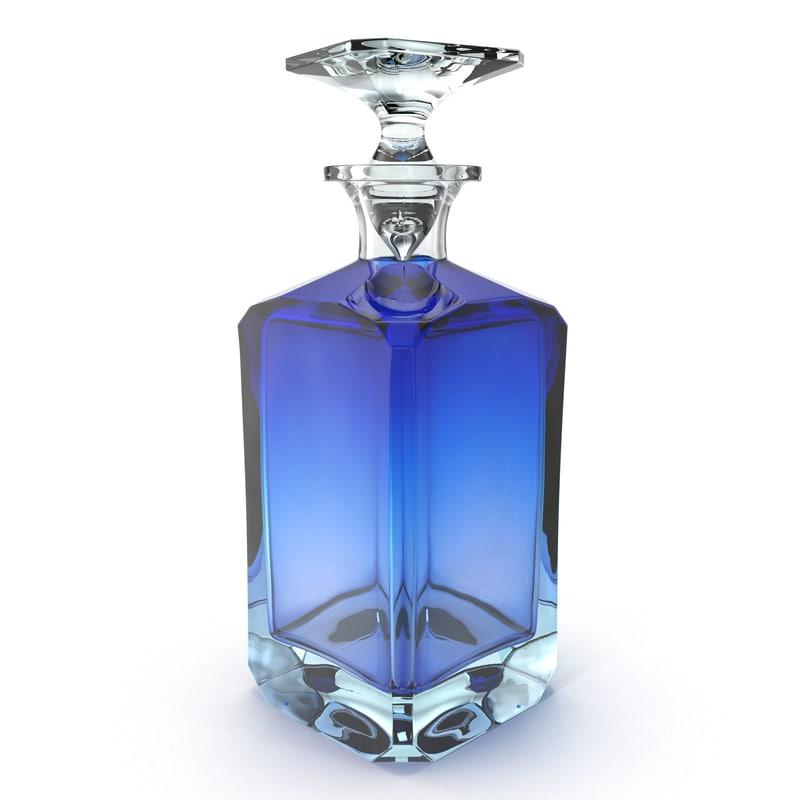 3d model decanter cobalt moser