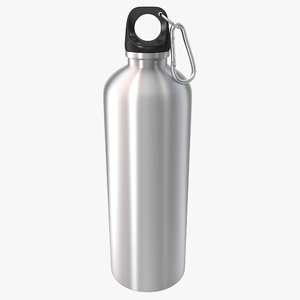 3d reusable aluminium water bottle