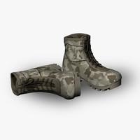 military boot 3d obj