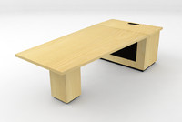 small conference table 3d c4d
