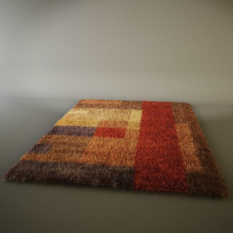 3d ikea shaggy rug