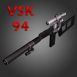 3dsmax vsk-94 sniper rifle