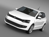 3d model volkswagen polo 2009-2013