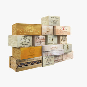 3ds max wine boxes