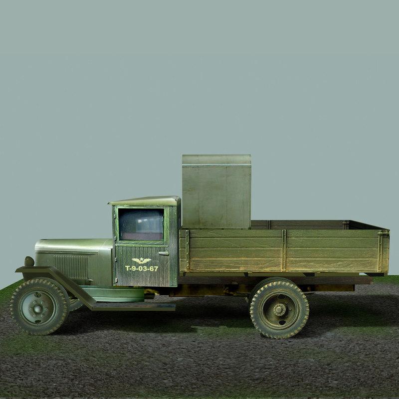 zis-5v rta military zis 3d max