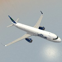sharkleted a321neo jetblue a321 3d model
