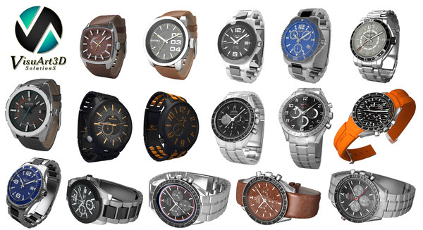 16 watches 3d model