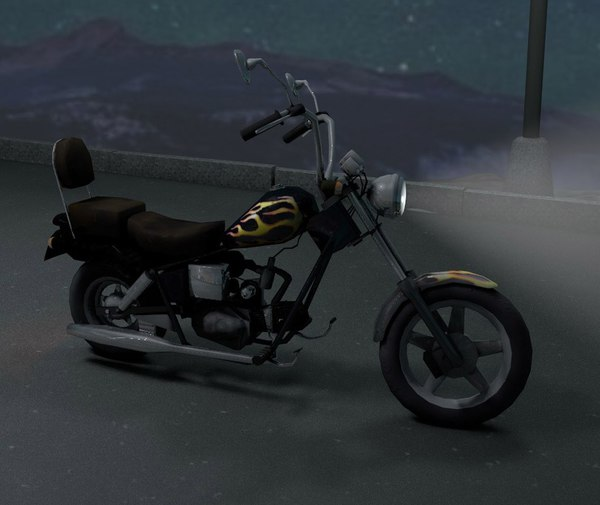 3d motorcycle bike model