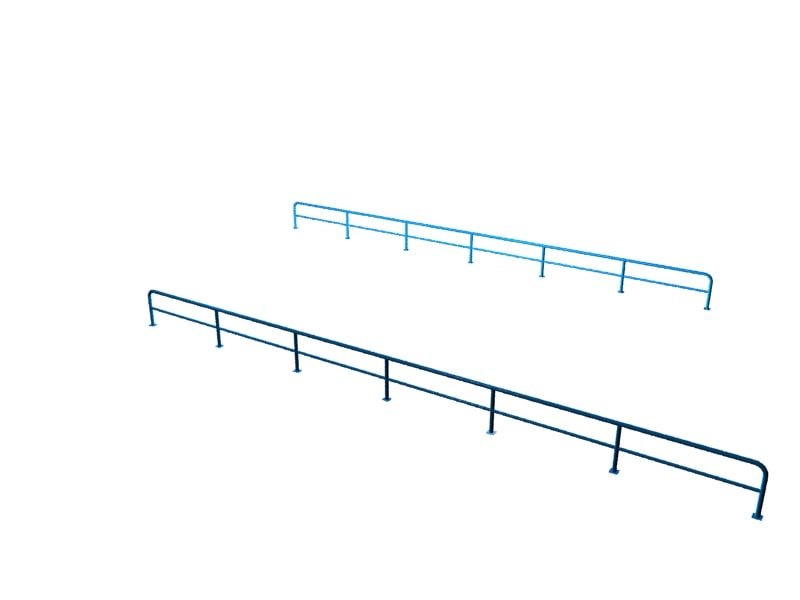3ds max blue railing