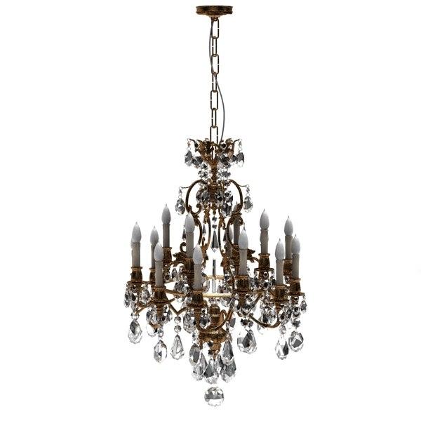 3d crystal chandelier model