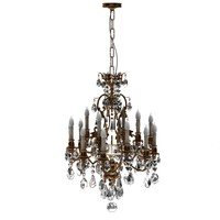 Chandelier crystal gold