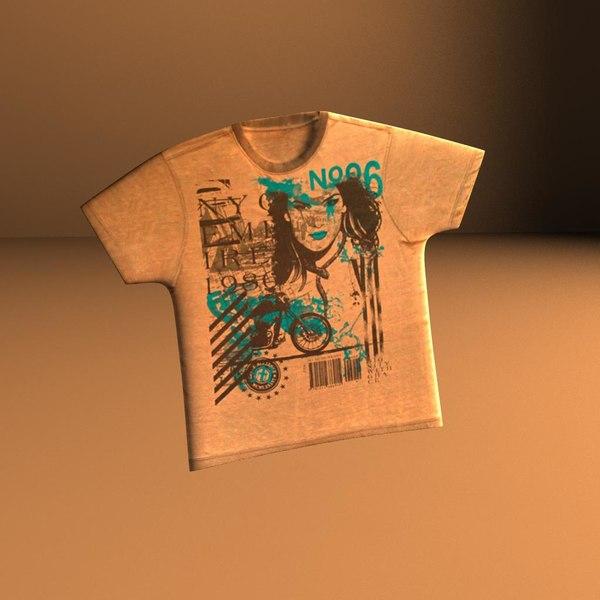 prop t-shirt 3d model