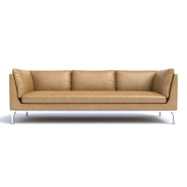 3d leathern sofa model