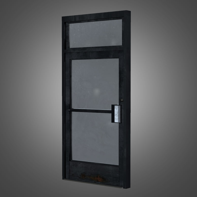 business glass door 3d model