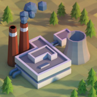Lowpoly power plant