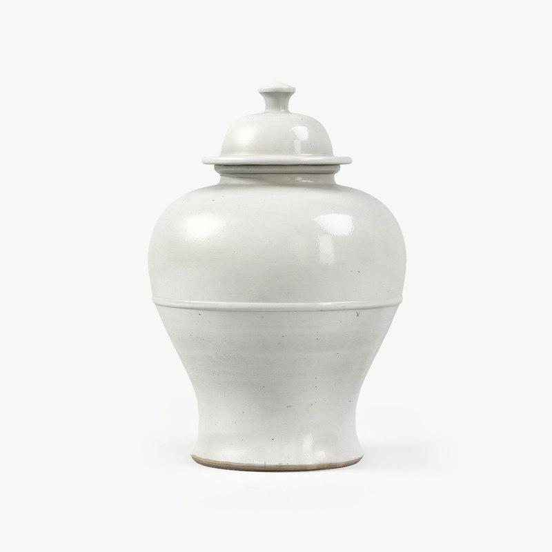 3d ralph lidded baluster vase