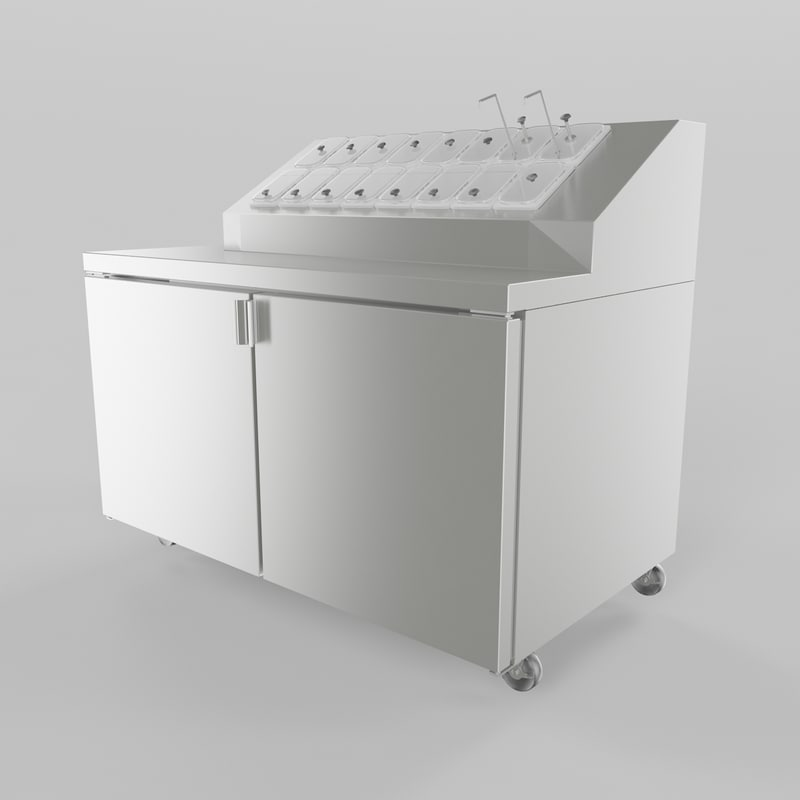 max ice cream topping cabinet