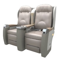 First-class cabin seat