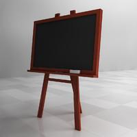 chalkboard chalk 3d model