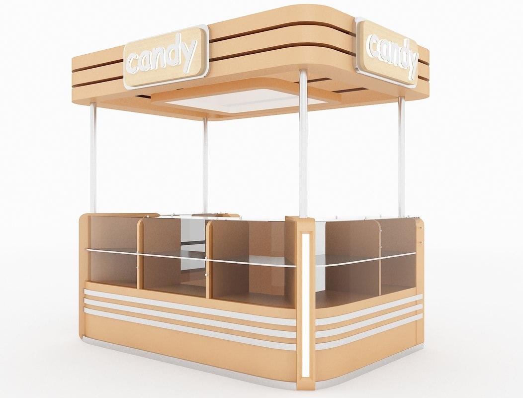 3d model kiosk