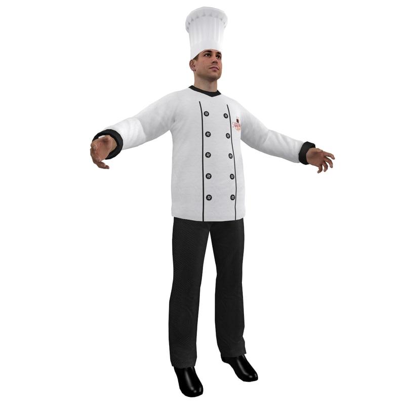 3d chef hat