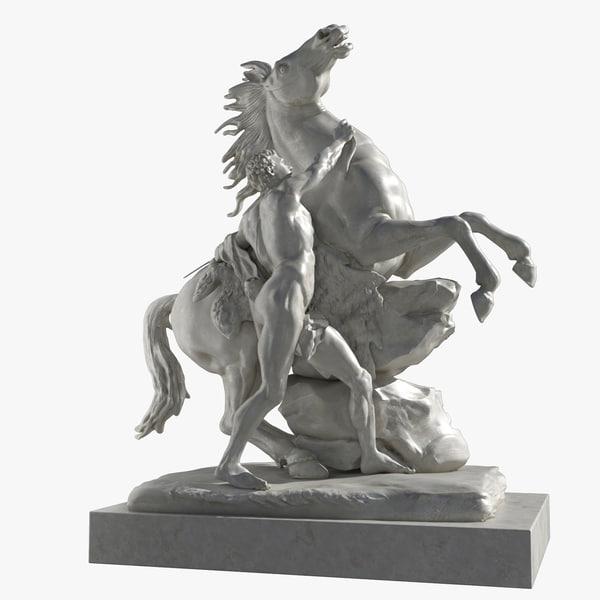 3d max equestrian guillaume coustou -