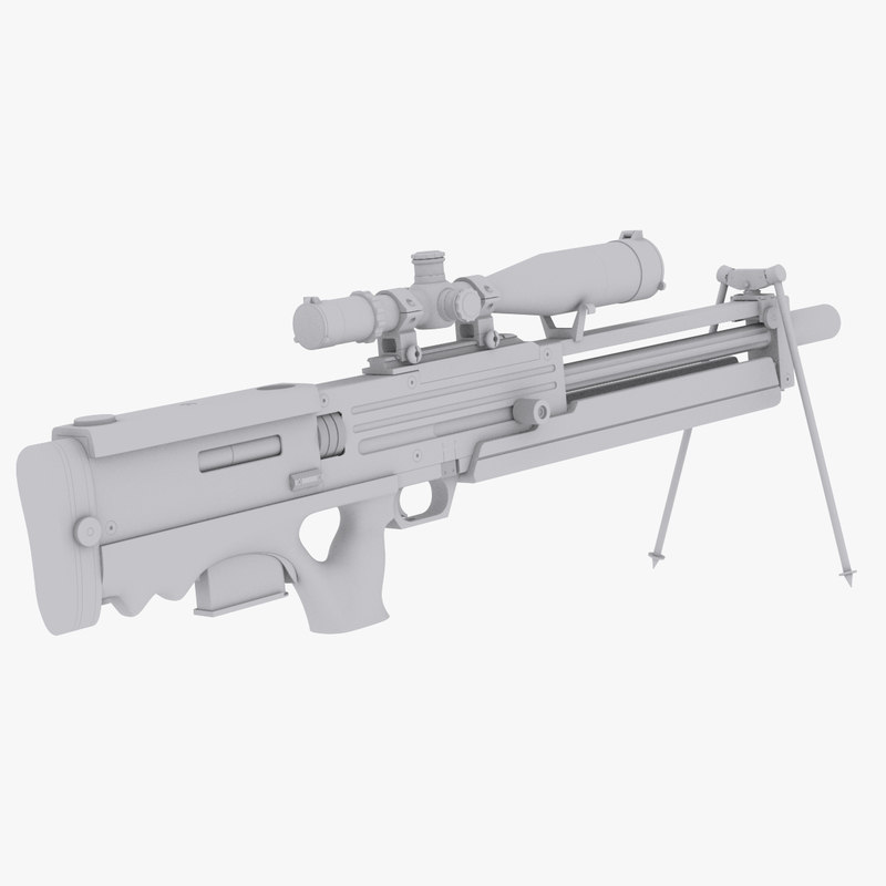 sniper rifle walther materials obj
