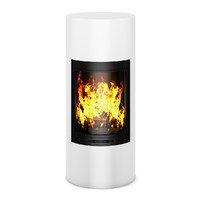 c4d modern white fireplace